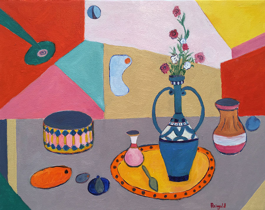 Still Life with Tall Vase